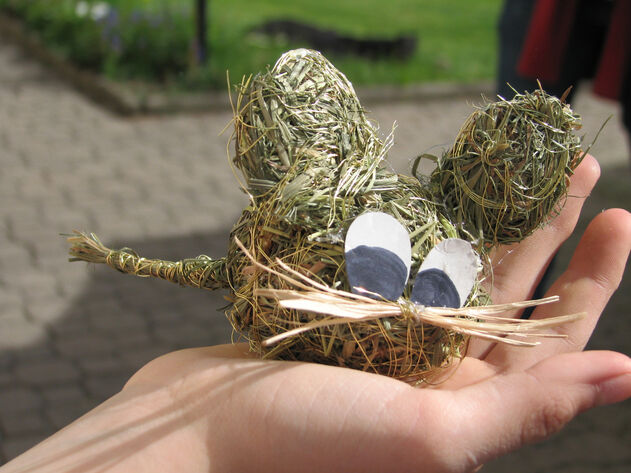 mouse made of hay
